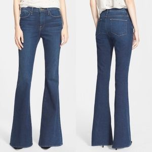 Frame Denim Blue Le High Rise Flare Leg Jeans